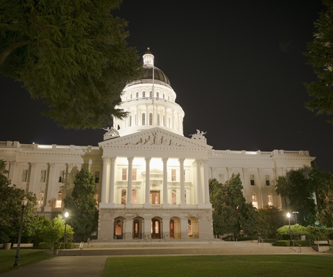 California State Capitol Building at Night